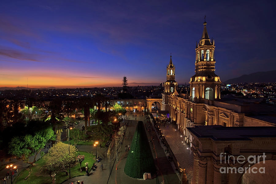 Plaza de Armas and Cathedral of Arequipa, Peru by Sam Antonio Photography