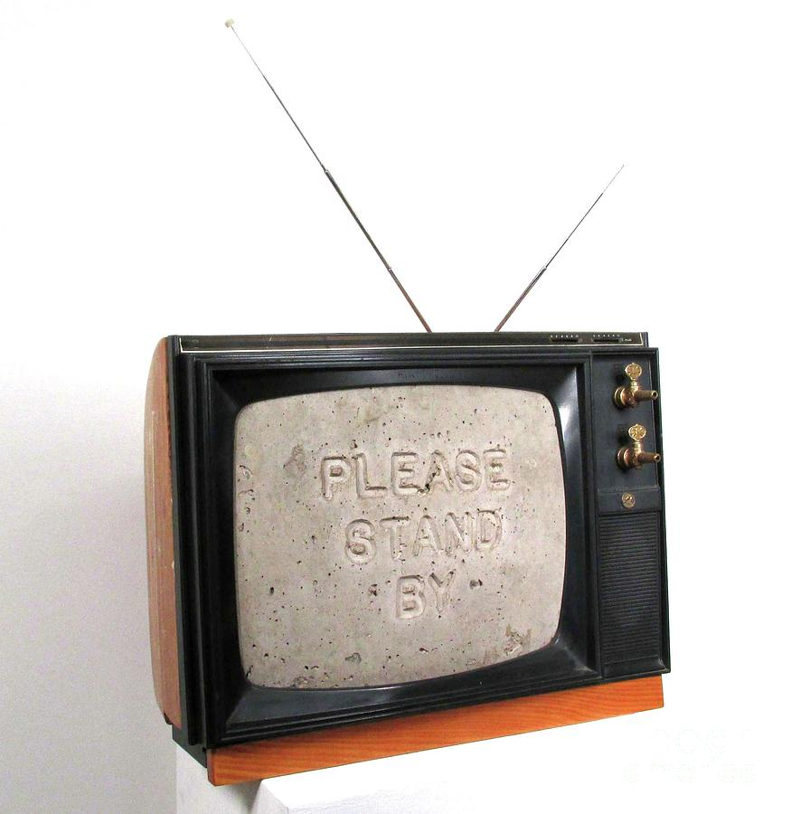 Czappa Sculpture - Please Stand by by Bill Czappa