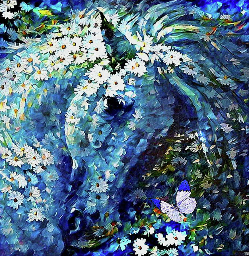 Blues Mixed Media - Please Dont Eat The Daisies by G Berry