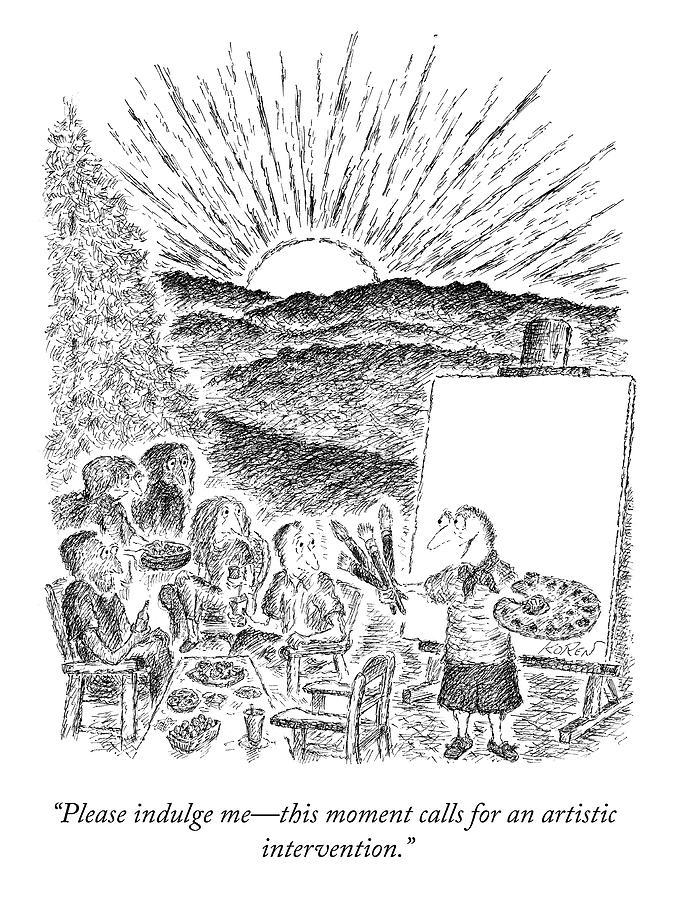 Please Indulge Me Drawing by Edward Koren
