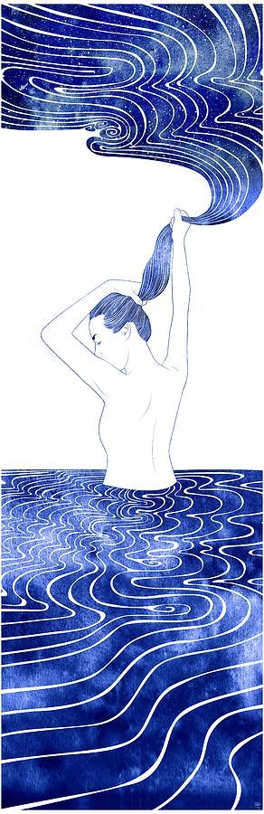 Aqua Mixed Media - Plexaure by Stevyn Llewellyn
