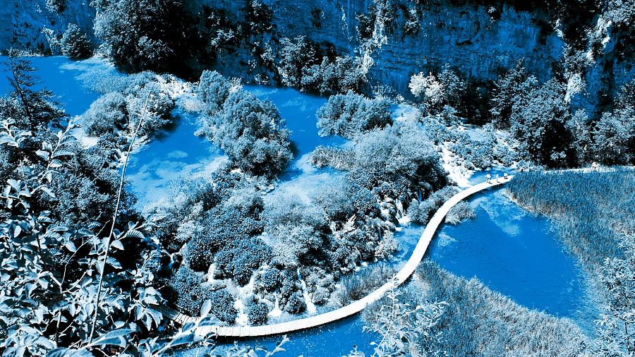 Nature Painting - Plitvice Lakes - Infrared by Celestial Images