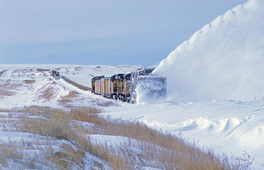 Plowing Snow In Kansas Photograph by Mike Danneman