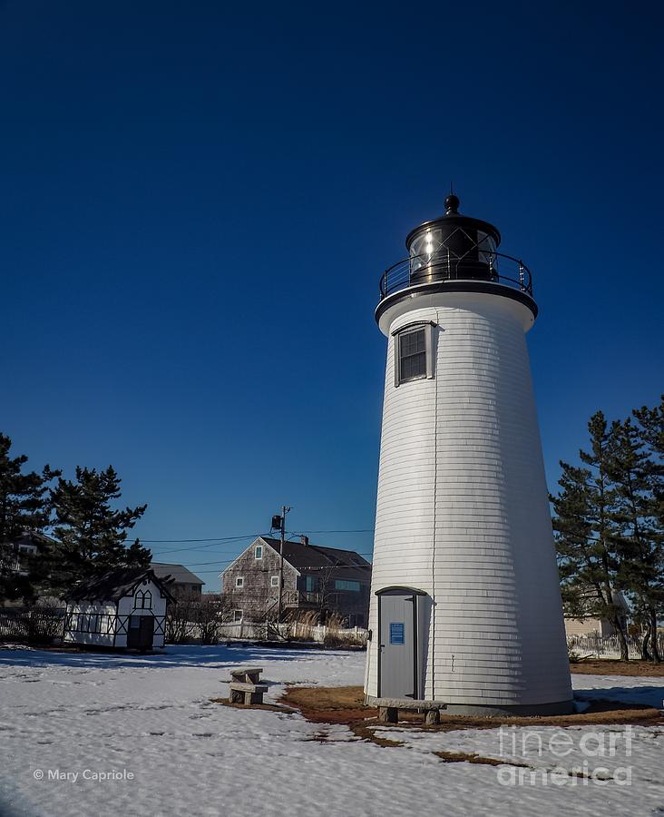 Plum Island Lighthouse with Snow by Mary Capriole