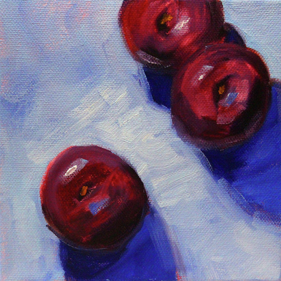 Plum Trio by Nancy Merkle