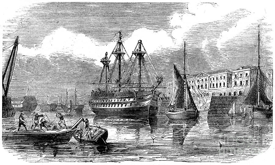 Plymouth, 19th Century Drawing by Print Collector