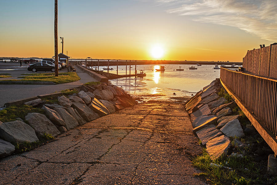 Plymouth MA Boat Ramp at Sunrise  Plymouth Harbor by Toby McGuire