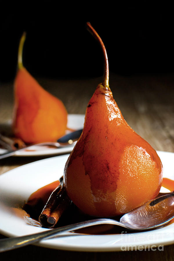 Cherry Photograph - Poached Pears With Cinnamon Syrup by Mehul Naik