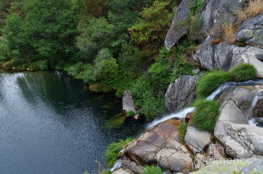 River Photograph - Poco Negro Waterfall From Above In Carvalhais 3 by Angelo DeVal
