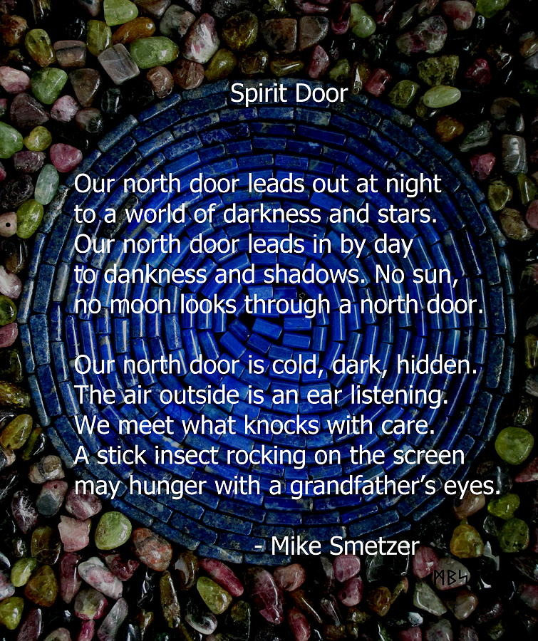 Gemstone Photograph - Poem Spirit Door Over Lapis Spiral In Bed Of Tourmaline by Mike Smetzer