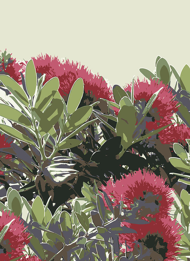 Pohutukawa New Zealand Christmas Tree by Jocelyn Friis