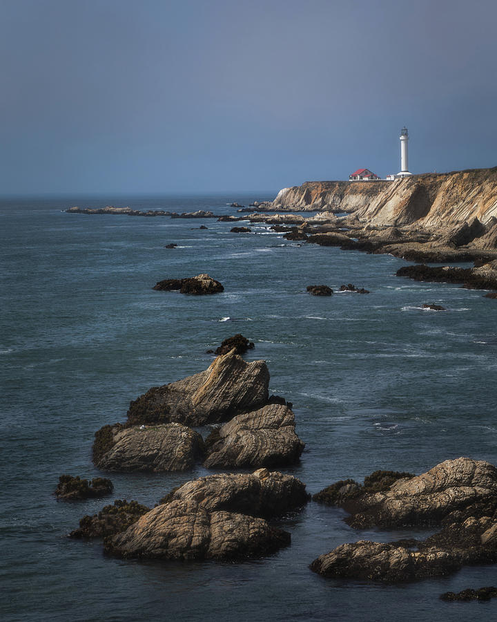 Point Arena Lighthouse by TL Wilson Photography 8x10 Format by Teresa Wilson