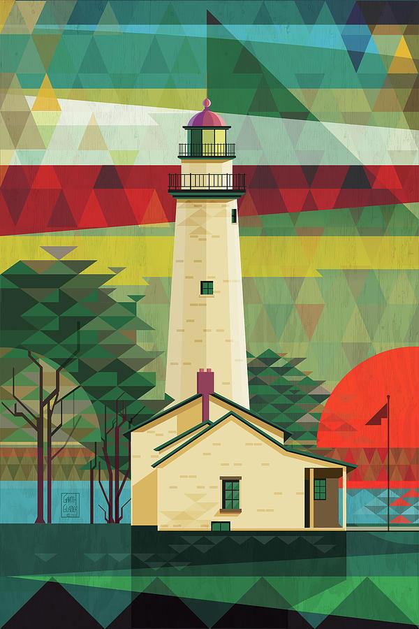 Michigan Digital Art - Point Aux Barques-michigan  by Garth Glazier