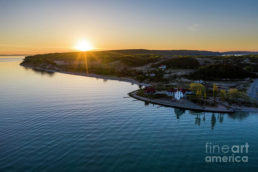 Lake Michigan Photograph - Point Betsie Lighthouse From Above by Twenty Two North Photography