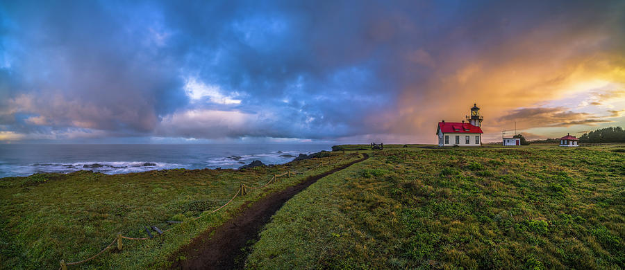 Lighthouse Photograph - Point Cabrillo Light Station Panorama by Jonathan Hansen
