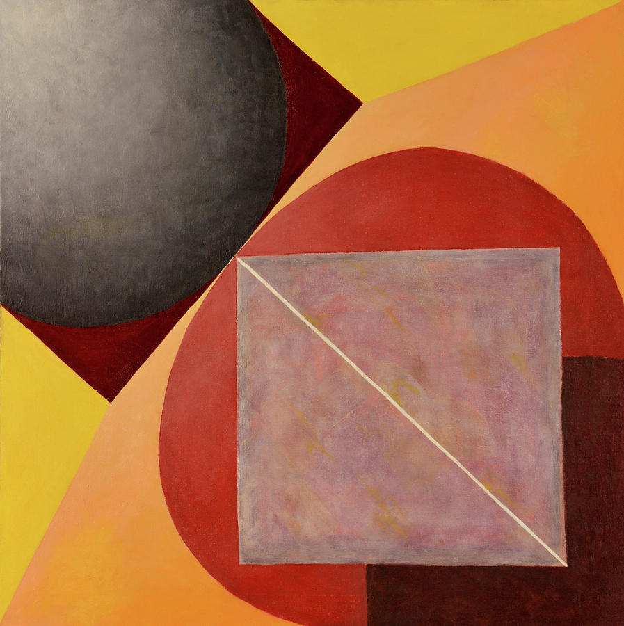 Abstract Paintings Painting - Point Line And Plane by David Douthat