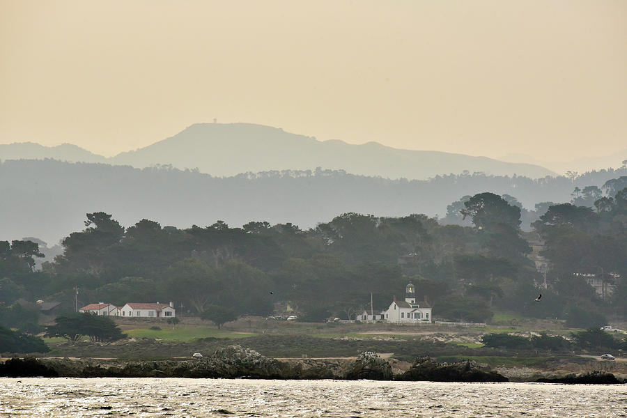 Point Pinos Lighthouse and Monterey Bay by Cindy McIntyre