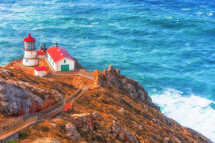 California Photograph - Point Reyes Lighthouse by Fernando Margolles