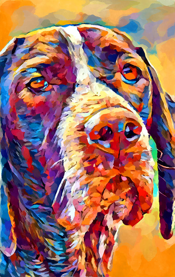 Portrait Painting - Pointer by Chris Butler
