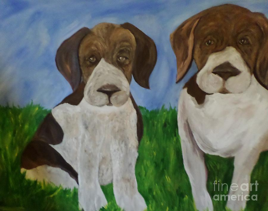 Pointer Pups Painting