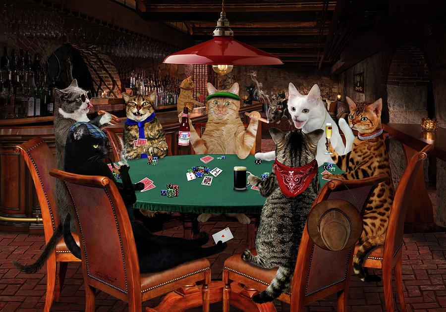 Poker Purrsuasion by Torie Tiffany