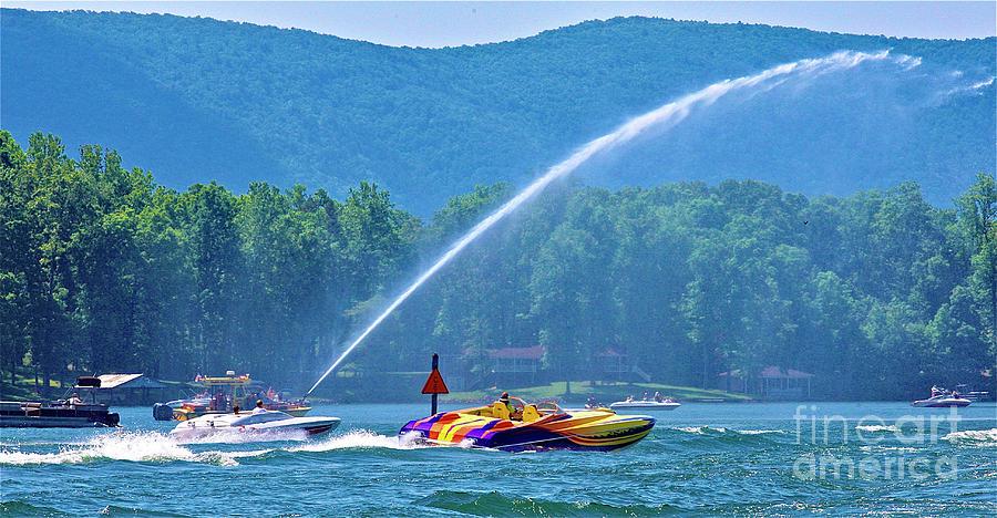 Poker Run, Smith Mountain Lake, Virginia by James B Roney