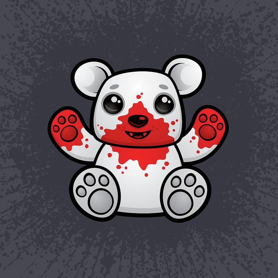 Polar Bear Cub First Kill Digital Art
