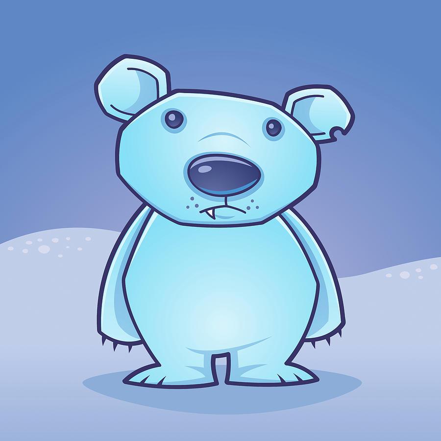 Polar Bear Cub Digital Art