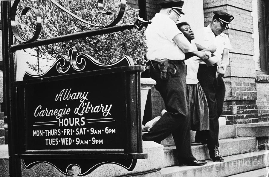 Police Carry Civil Rights Demonstrator Photograph by Bettmann