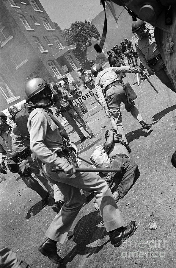 Police Dragging Protesters Away Photograph by Bettmann