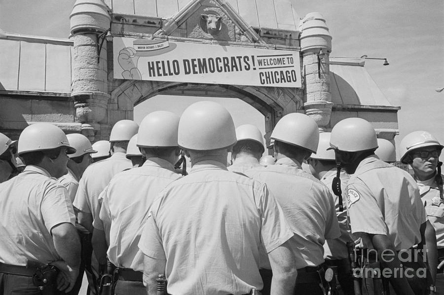 Police In Front Of Democrat National Photograph by Bettmann