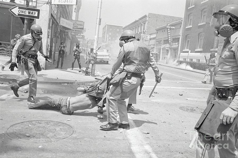 Policeman Dragging Away Demonstrator Photograph by Bettmann