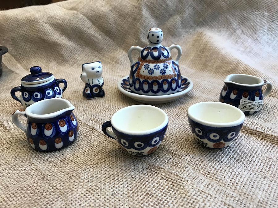 Polish Czech Porcelain Tea Time Kids Miniatures by Kathy Clark