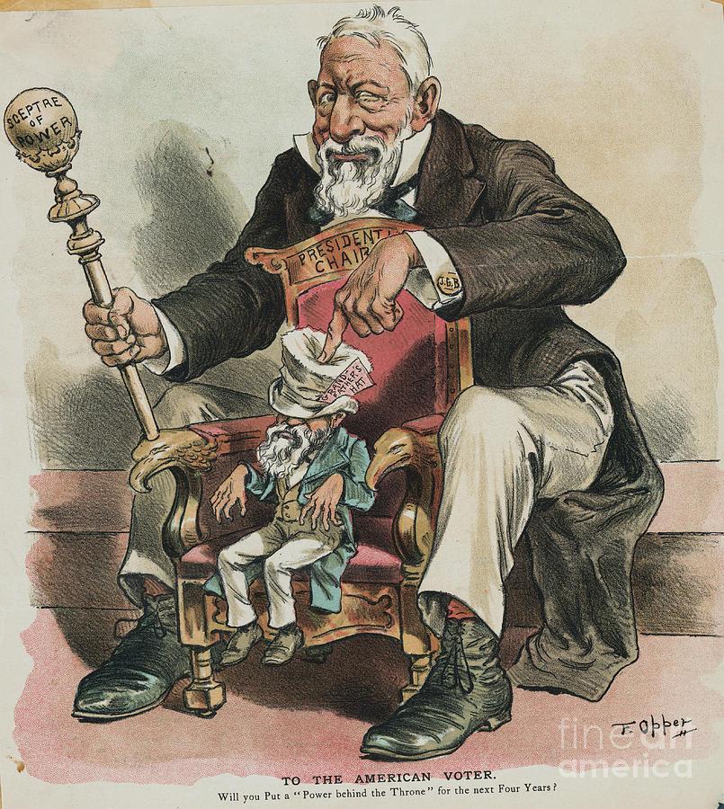 Political Cartoon Depicting Politician Photograph by Bettmann