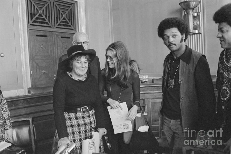 Politician Bella Abzug With Gloria Photograph by Bettmann