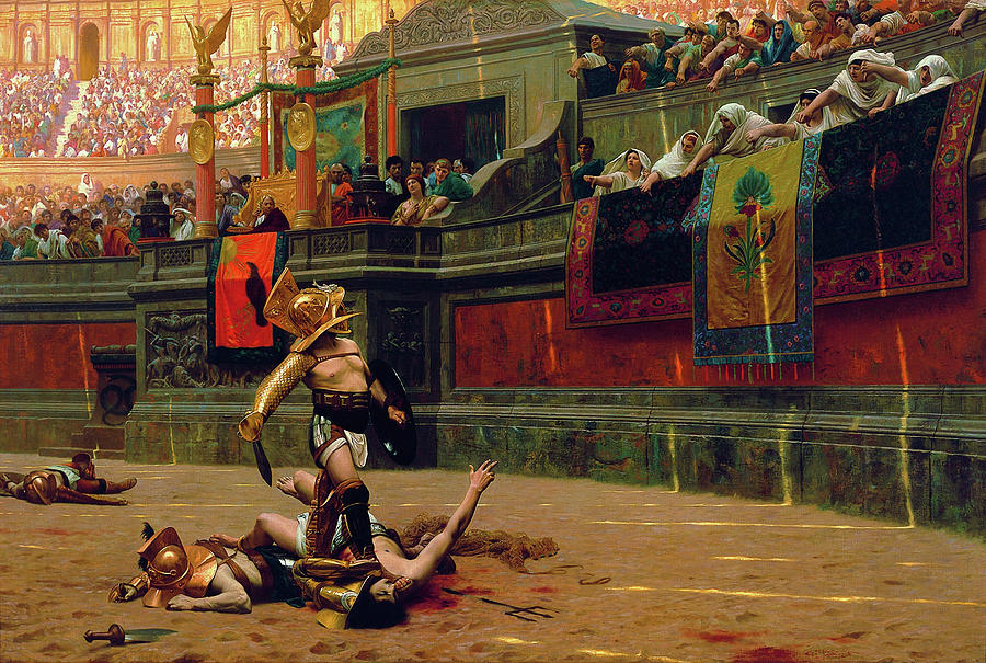 Jean Leon Gerome Painting - Pollice Verso - Digital Remastered Edition by Jean-Leon Gerome