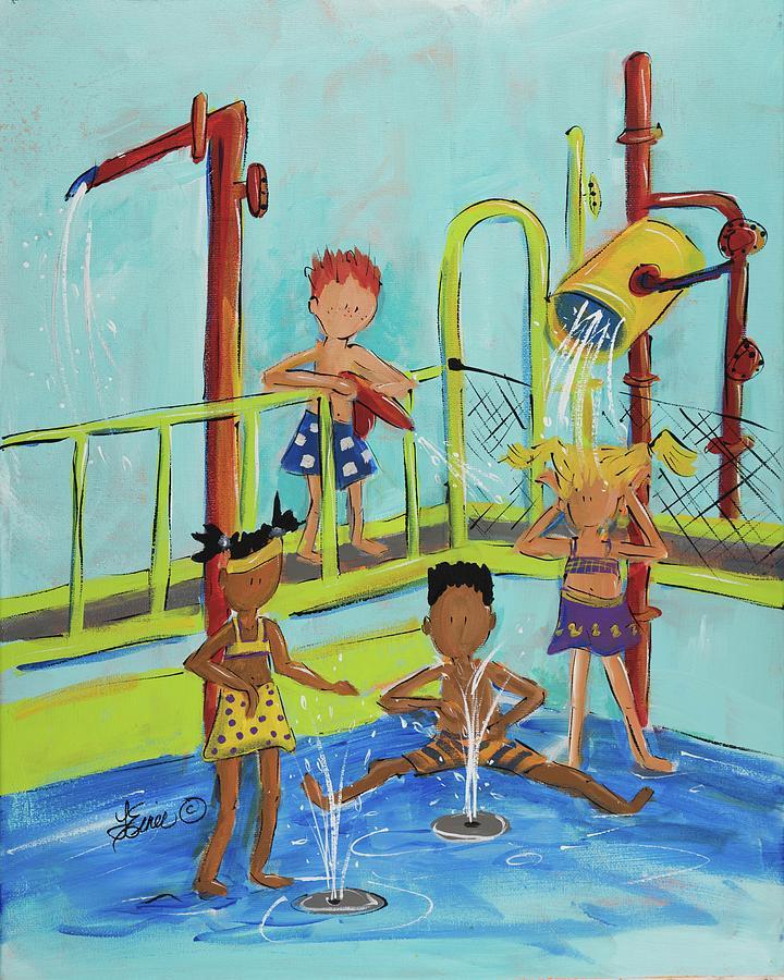 Pollock Splashin by Terri Einer