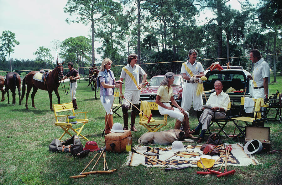 Polo Party Photograph by Slim Aarons