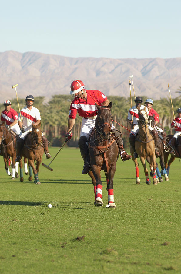 Polo Player Advancing Ball Photograph by Moodboard