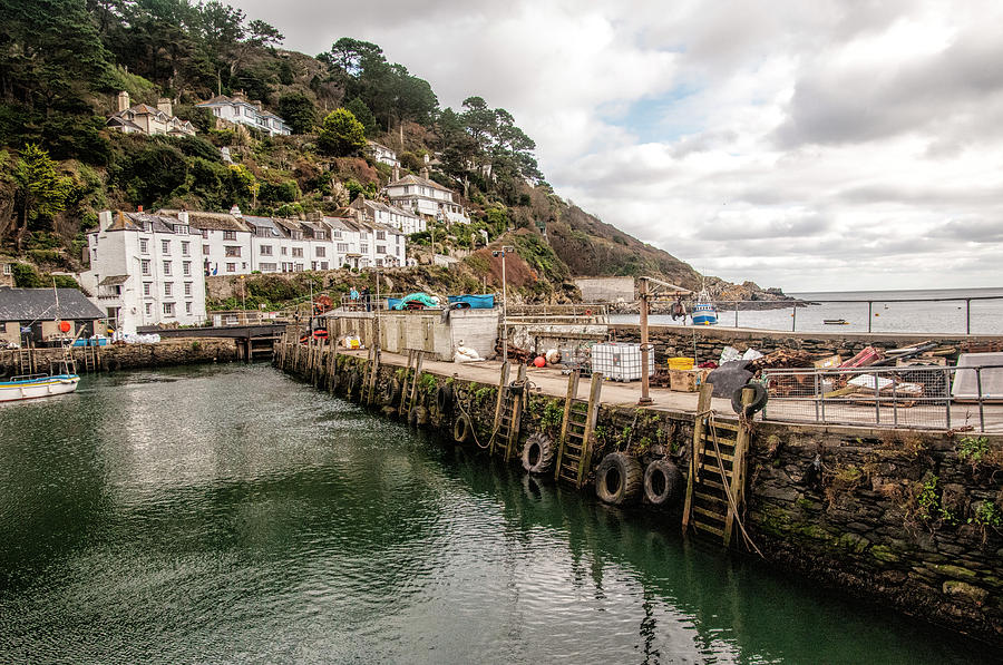 Polperro's Fishing Harbour by Phyllis Taylor