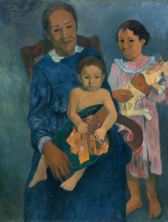 Polynesian Woman with Children by Paul Gauguin