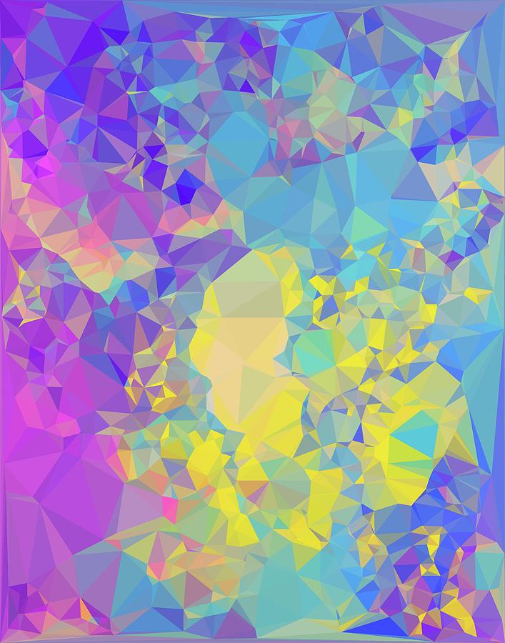 Geometric Digital Art - Polystone by Jennifer Walsh