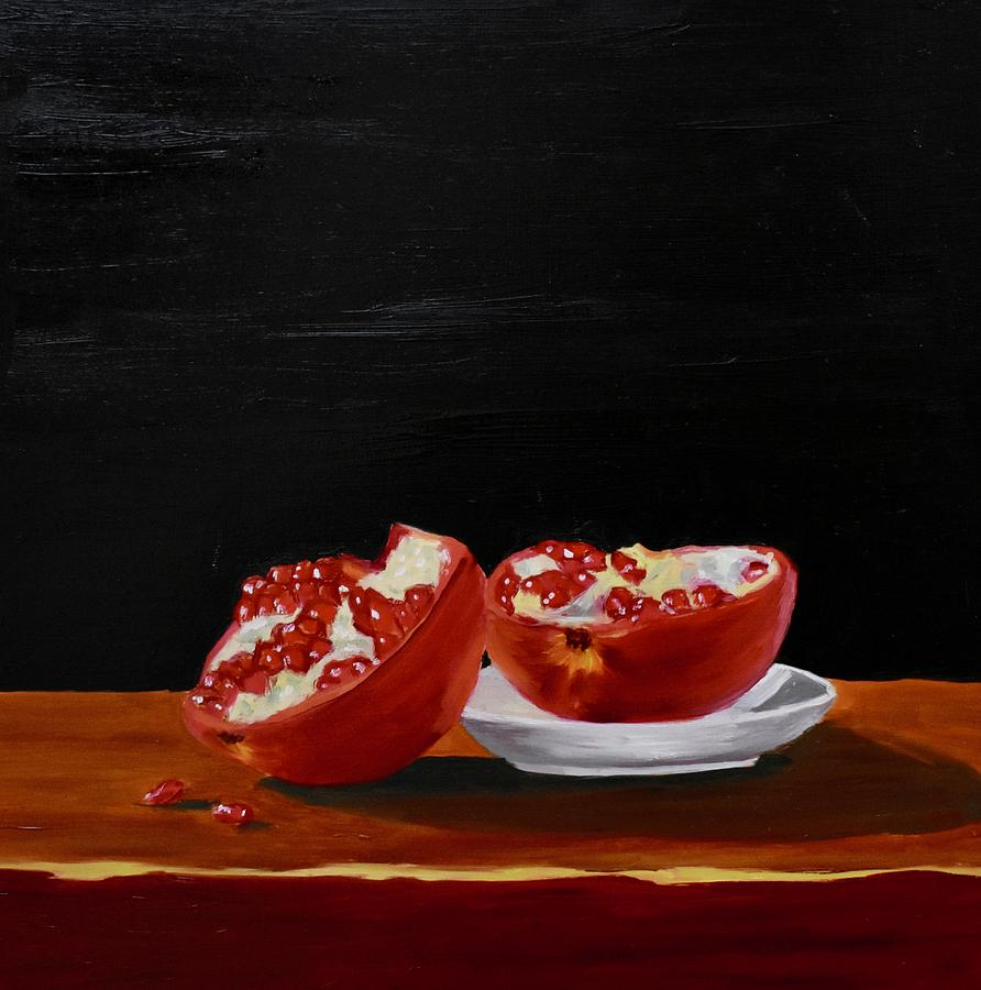 Pomegranate Painting - Pomegranite by Emily Warren
