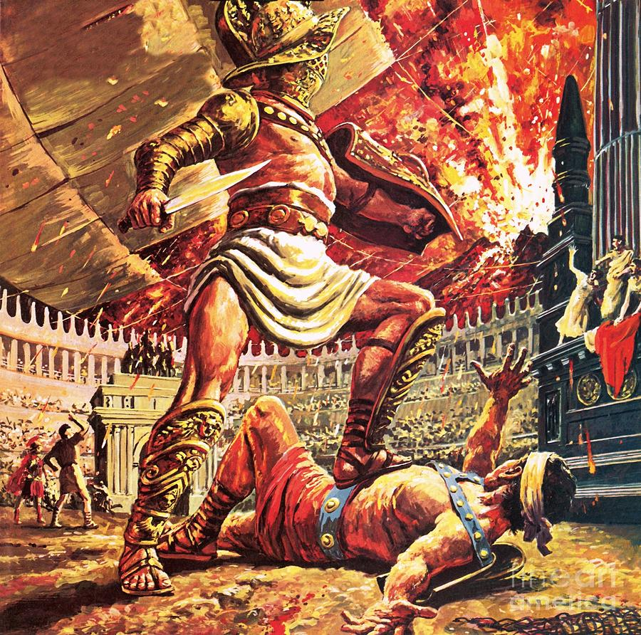 Roman Painting - Pompeii, The Doomed City by Roger Payne