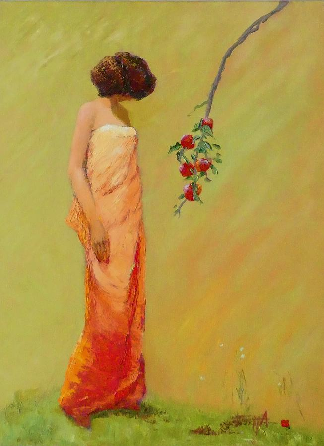 Figurative Painting - Pomum  by Irena Jablonski