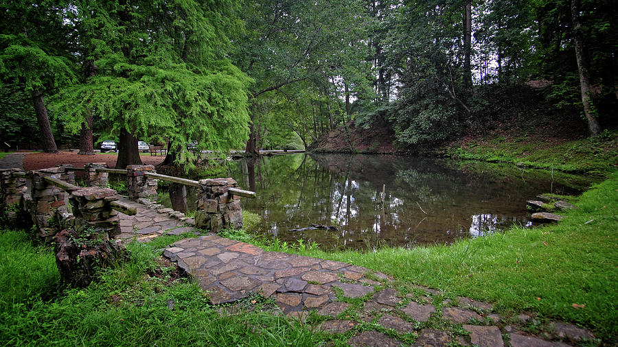Pond and Bridge by George Taylor