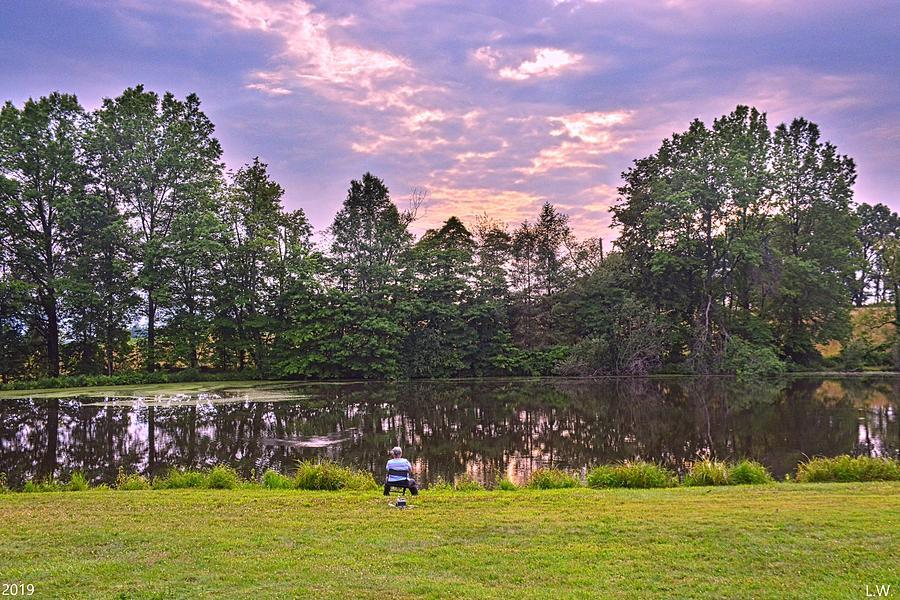 Pond Fishing by Lisa Wooten