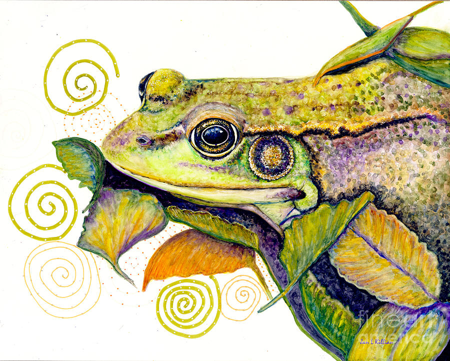 Pond Frog Smile by Jan Killian