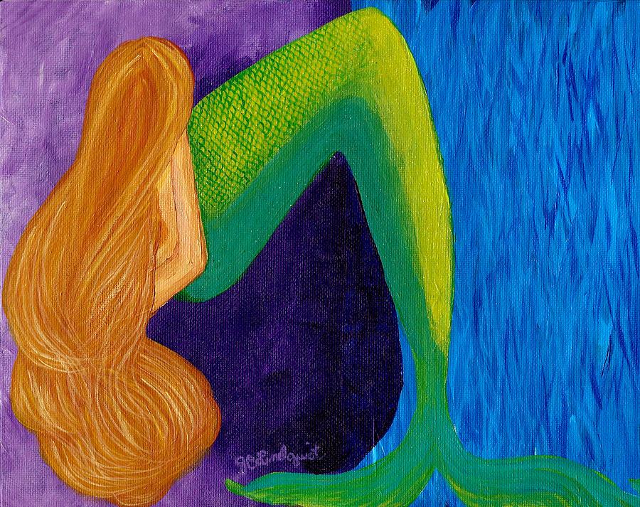Mermaid Pondering by Jenn C Lindquist