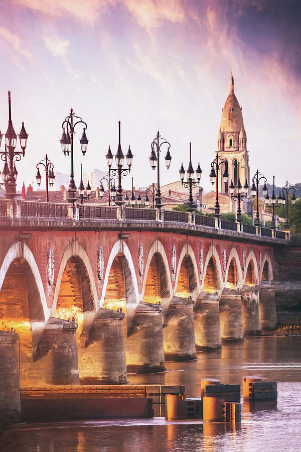 Pont De Pierre Bordeaux France Photograph